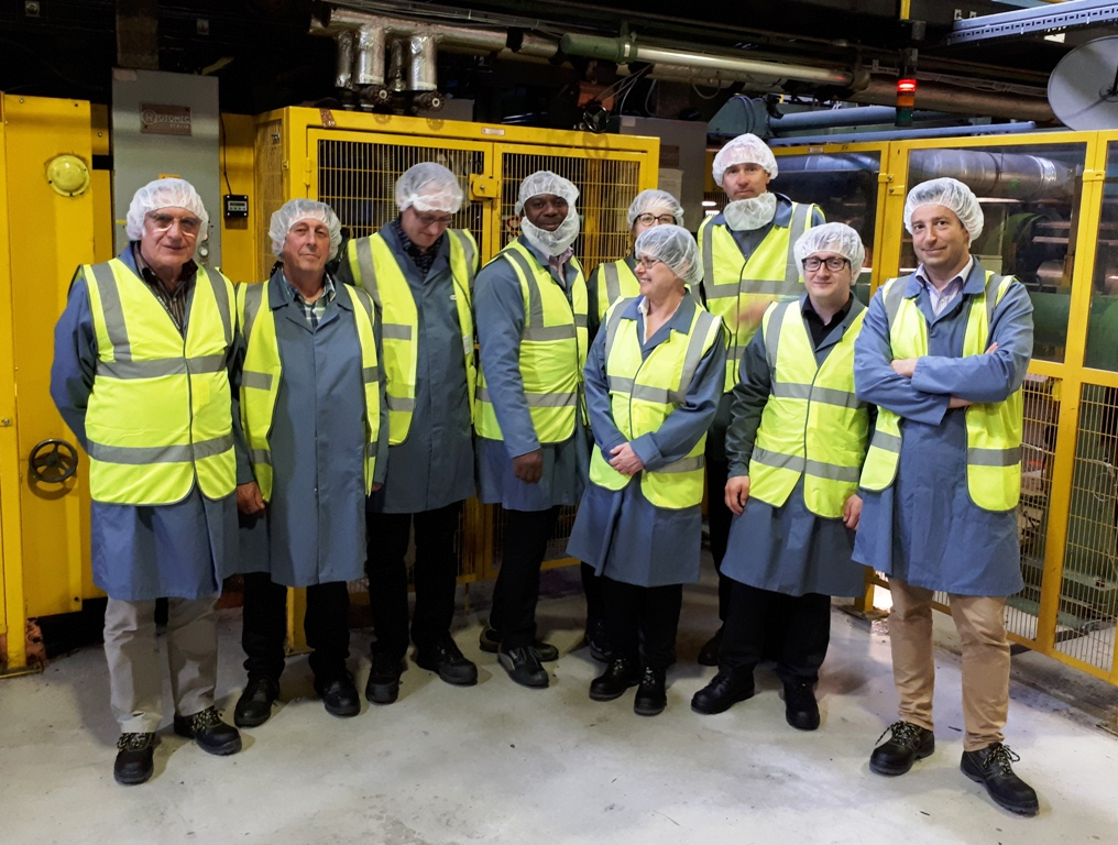 West Suffolk College Tutors pictured during their Camvac tour of different apprenticeships in Thetford