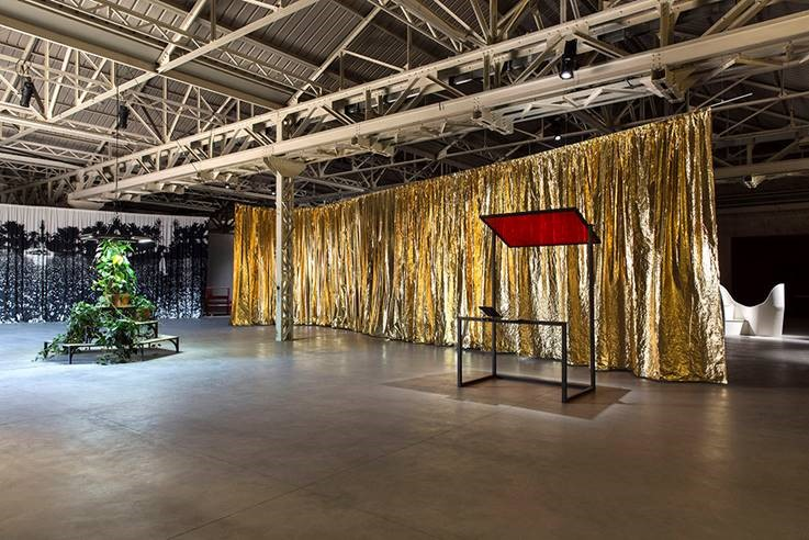 Camvac Gold Metallised Film Used In Art Exhibition